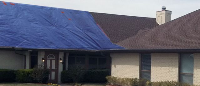 Eustis-Temporary Roof Tarpaulins-Repair